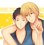 -- KnB : Kise and Kasamatsu --