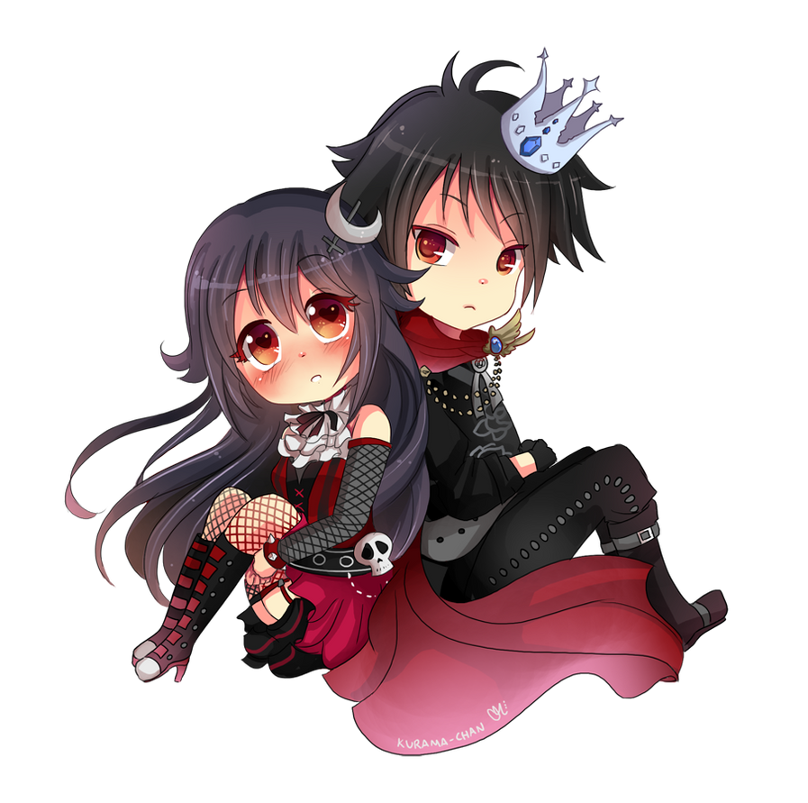 -- Chibi couple commission for XxNemi-ChanxX -- by Kurama ...