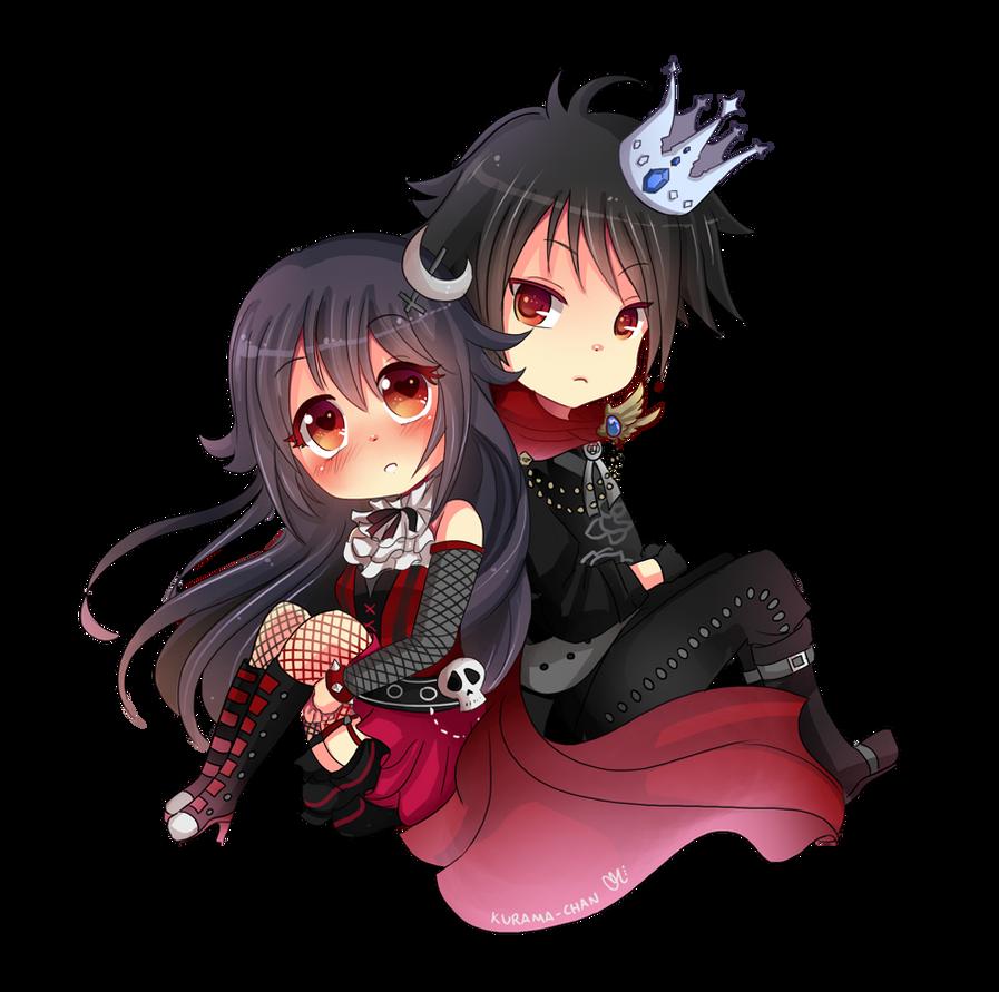 -- Chibi couple commission for XxNemi-ChanxX -- by Kurama ...