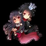 -- Chibi couple commission for XxNemi-ChanxX --