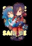 -- DMMD: Chibi Aoba and Koujaku couple --