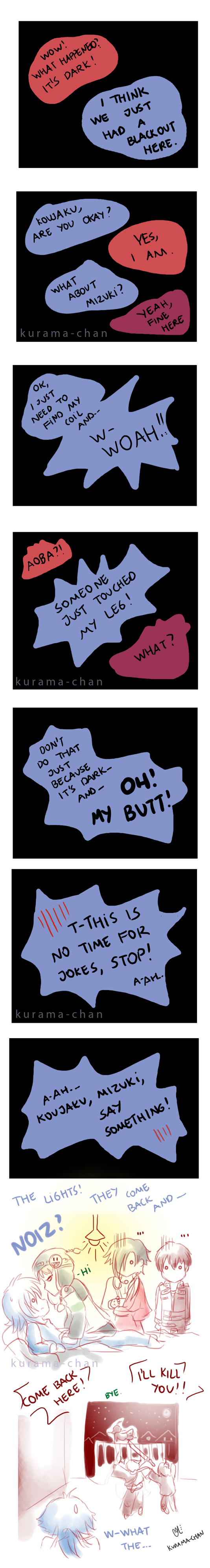 -- DMMD comic: When the lights are out -- by Kurama-chan
