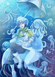 -- DMMD and Orenchi crossover : Jellyfish -- by Kurama-chan