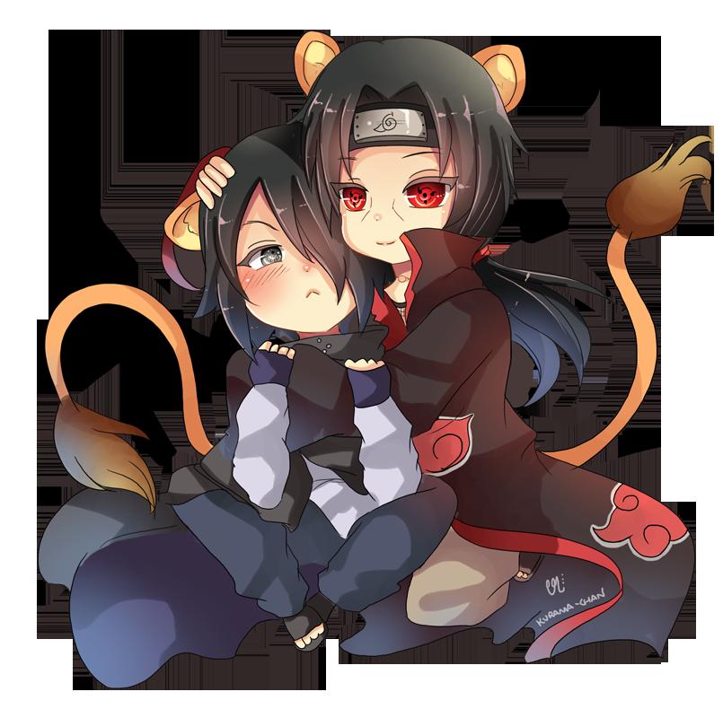 -- Chibi couple Commission 1 : ItaSasu -- by Kurama-chan