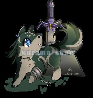 -- Commission : Chibi Wolf Link --