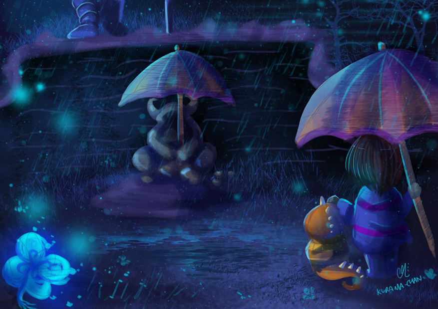 undertale frisk in waterfall - photo #17