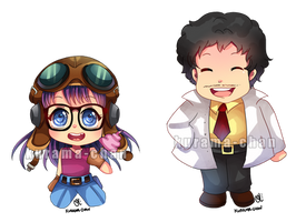 -- Chibi commission : Dr Slump -- by Kurama-chan