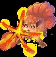 -- Pokemon 20th Anniversary Tribute : Vulpix -- by Kurama-chan