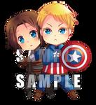 -- Captain America Civil War : Stucky chibi --