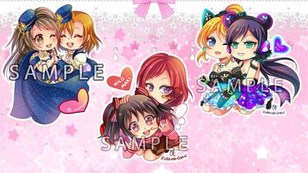 -- Love Live Pairing Keychain Set --