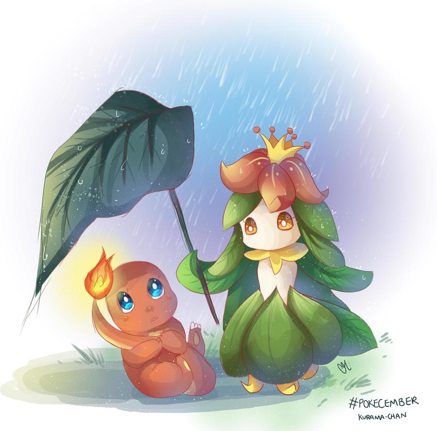 - Pokecember 03and04 : Lilligant and Charmander - by Kurama-chan