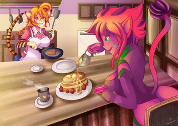 -- Commission for Balloon Princess: Cooking -- by Kurama-chan