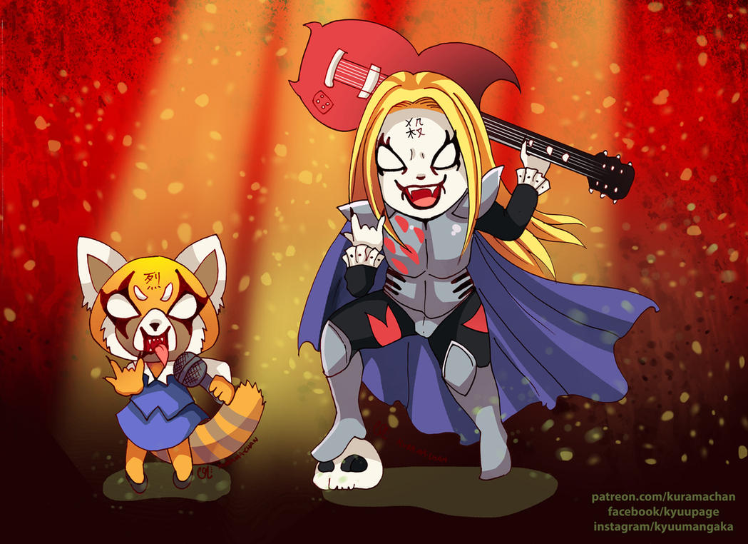 -- Aggretsuko + Detroit Metal City -- by Kurama-chan