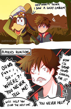 -- KHIII: Is this a lucky emblem?! --