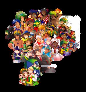 -- Estados Brasileiros: Characters introduction --