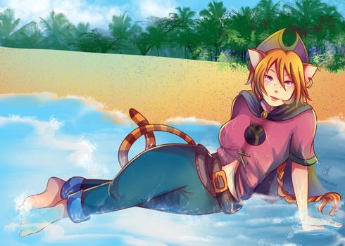 -- For Balloon Princess: At the beach --