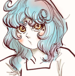 Phone doodle of little Aphrodite
