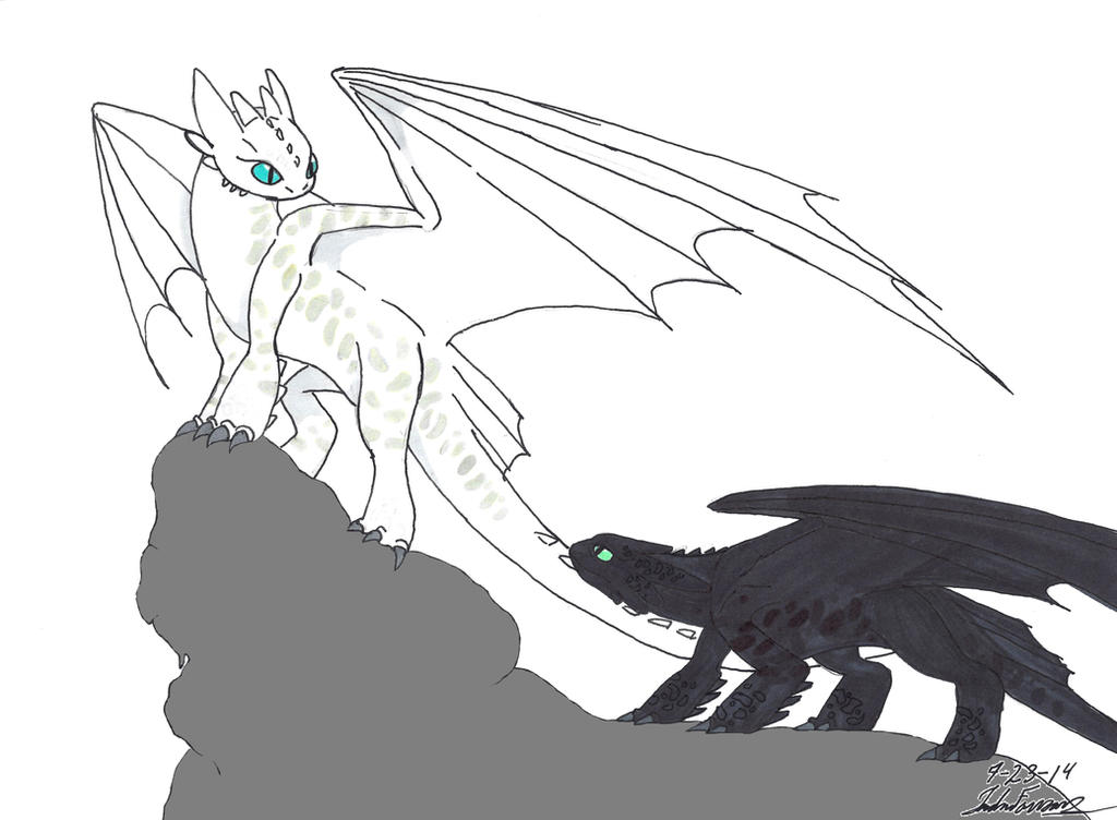 Albino Night Fury by clinclang on DeviantArt