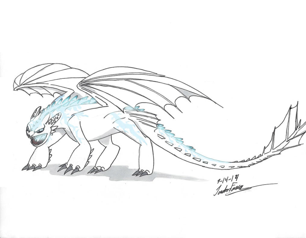 Alpha Albino Night Fury by clinclang on DeviantArt