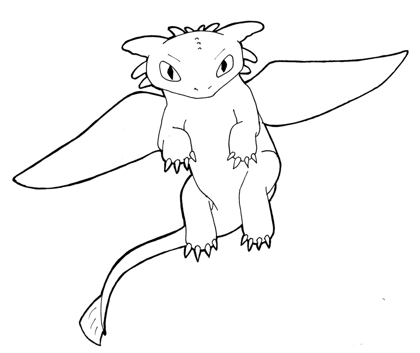 How To Draw Toothless Flying Toothless Coloring Pages