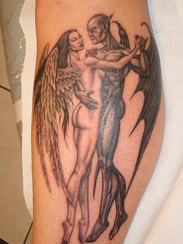 angel and demon by ~TattooZagreb on deviantART