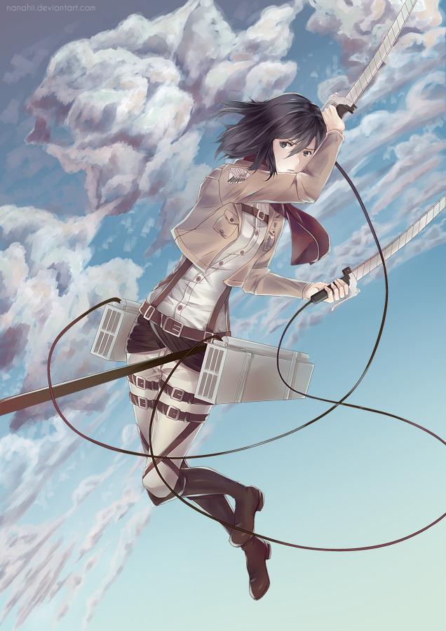 Mikasa Ackerman by Nanahii