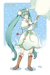 Snow Miku by Nanahii