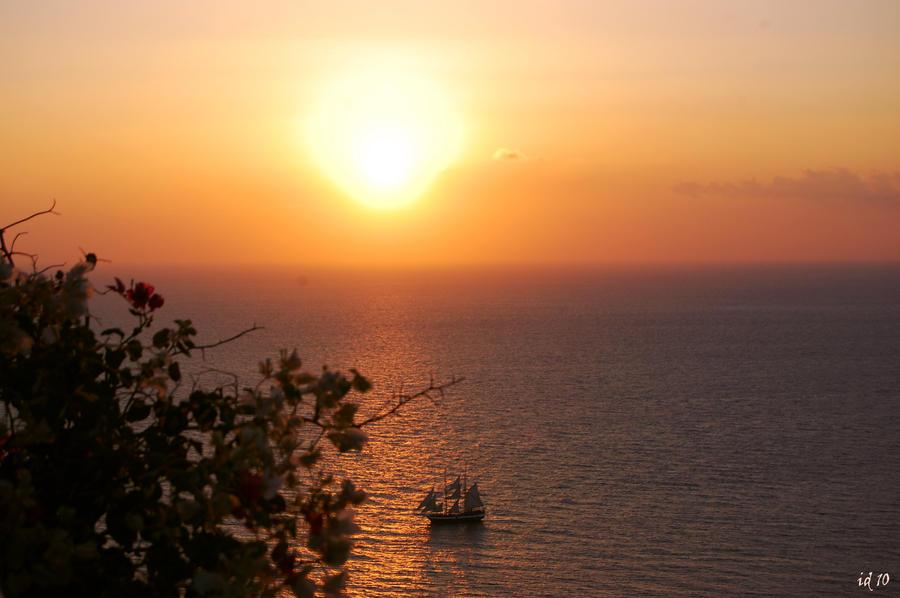 sunset of santorini III by Pithana