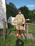 Ragnar in light viking outfit