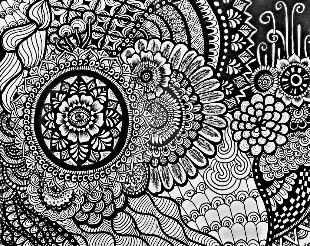 Line Art Zentangle : Zentangle by aoiblue on deviantart