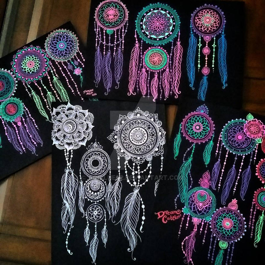 Neon Dream Catchers By Aoiblue02 On