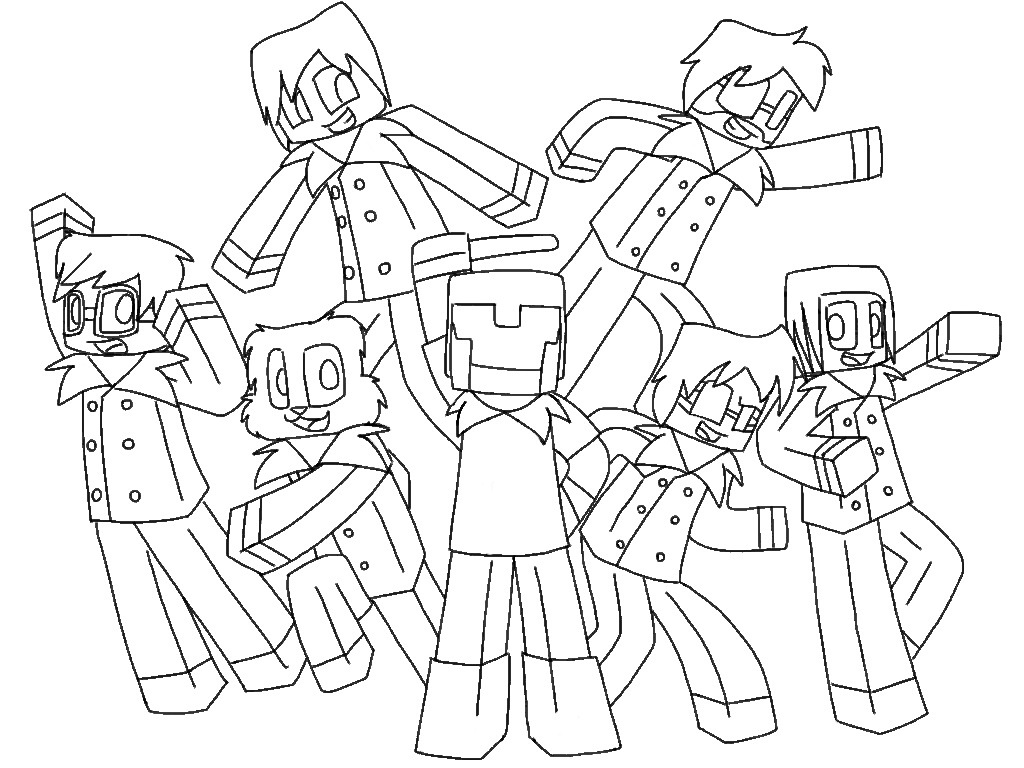 minecraft bajan canadian coloring pages - photo#4