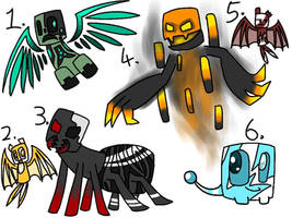Minecraft creature adoptables 2 (closed) by Gameaddict1234
