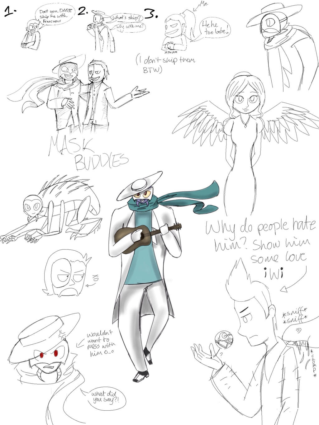 AMiP and OotO Sketches by Gameaddict1234