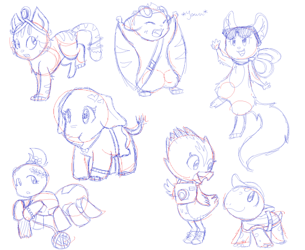 LPS Character sketches by Gameaddict1234