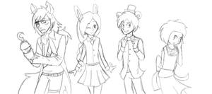 Five nights at Freddy's humanized