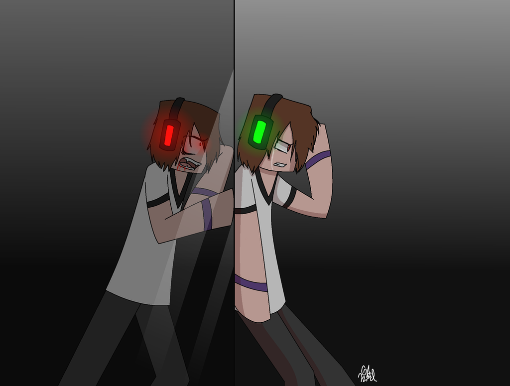 In his reflection 2 by Gameaddict1234