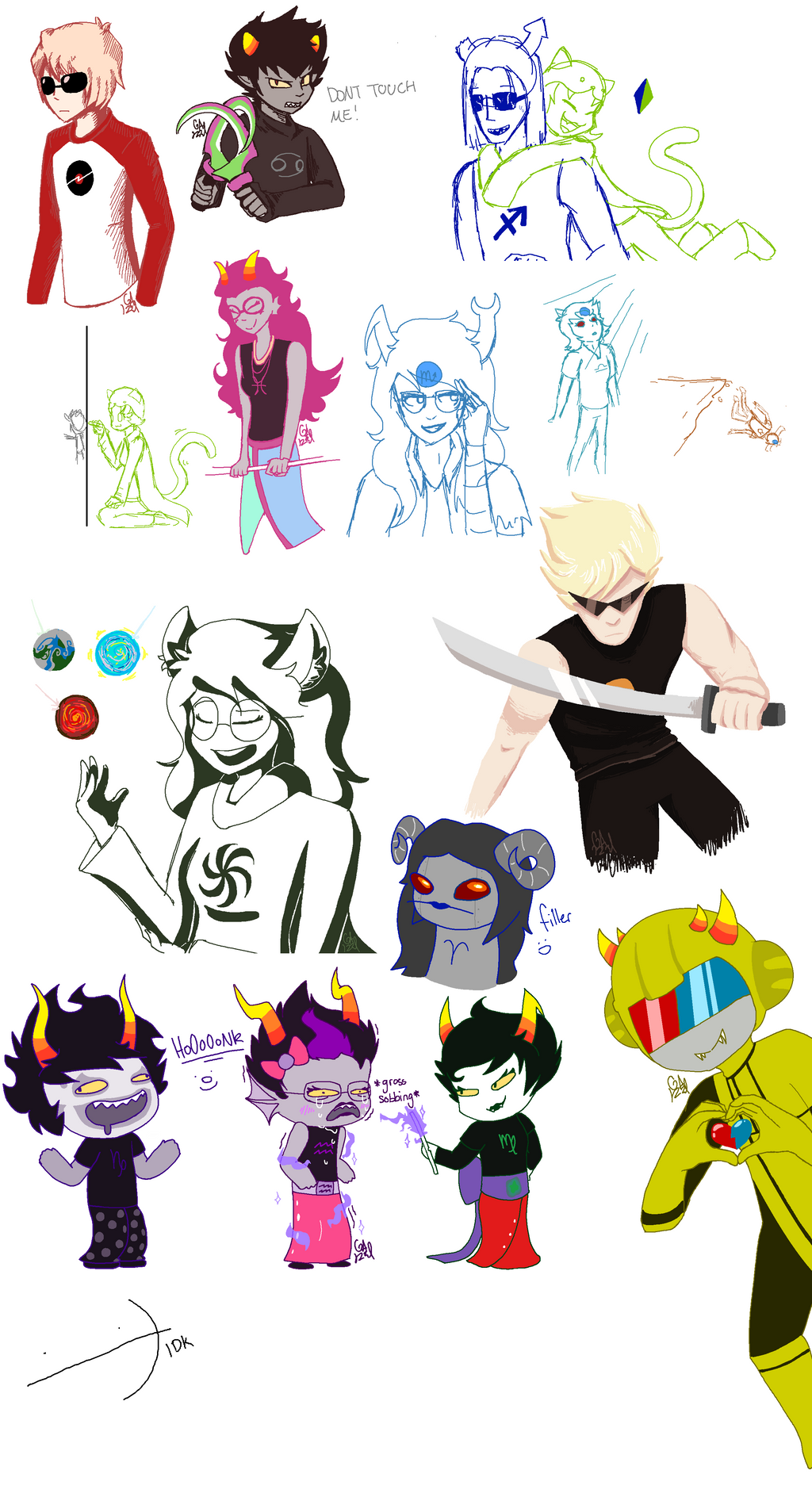 Homestuck sketch dump by Gameaddict1234