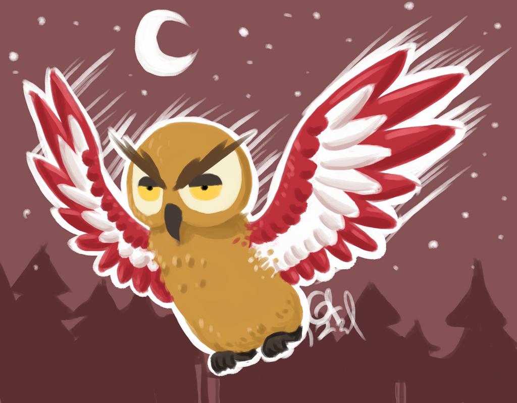 Bat owl by Gameaddict1234