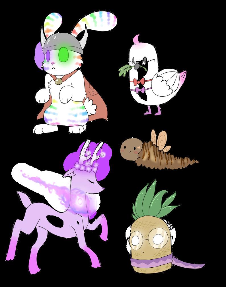 Random creature adopts batch 1 (CLOSED by Gameaddict1234