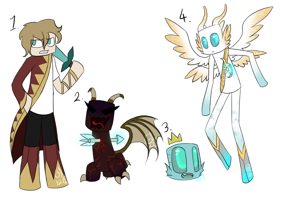 More minecraft character adopts (CLOSED) by Gameaddict1234