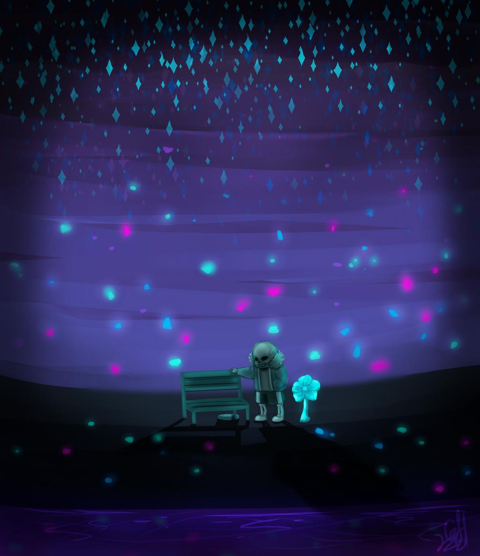 Undertale- Waterfall by Gameaddict1234