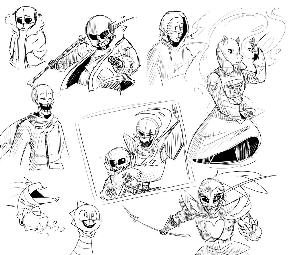 Undertale sketch dump by Gameaddict1234