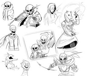 Undertale sketch dump by Gameaddict1234