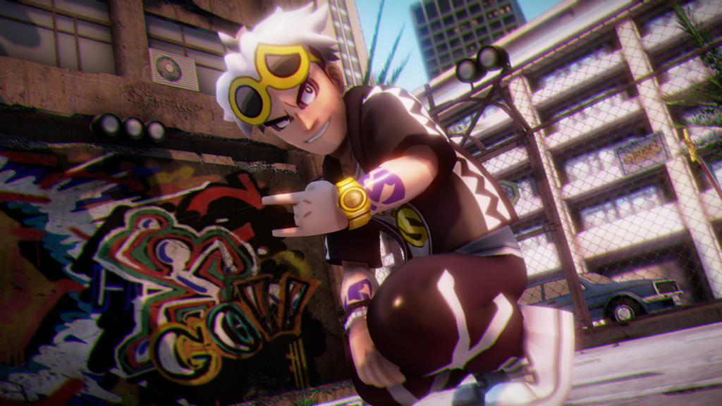 MMD Pose practice- Guzma by Gameaddict1234