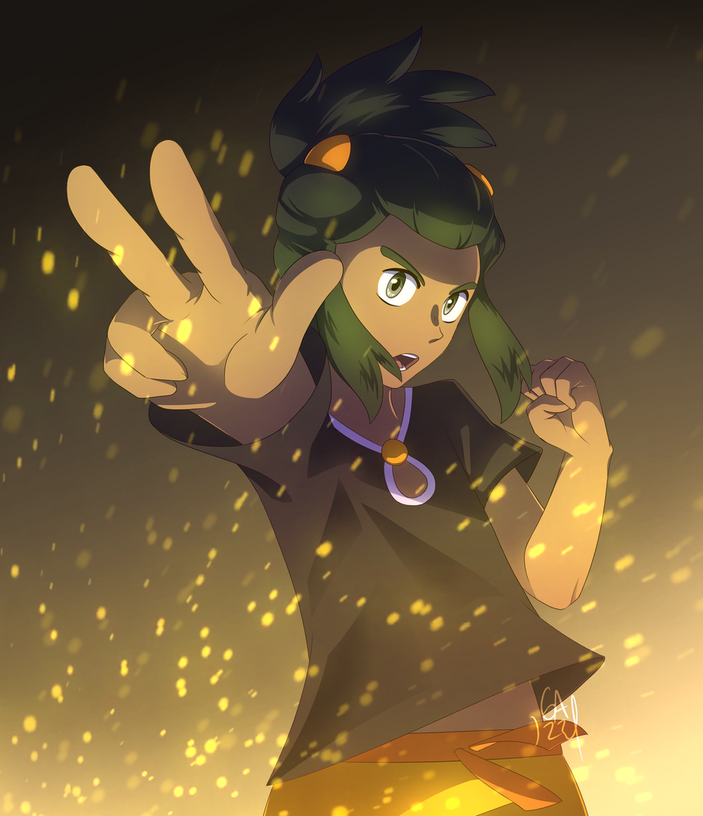 You are challenged by Pokemon Trainer Hau! by Gameaddict1234