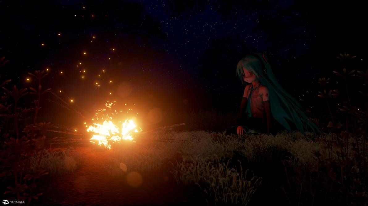 Hatsune Miku, Bonfire by kurorofikkykakao