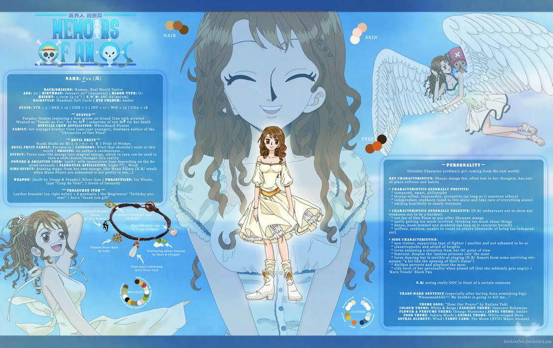One Piece OC - Fuu Full Profile by TenshiNoFuu