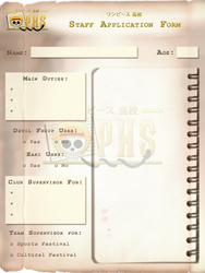 OPHS - Chara Profile Template STAFF by TenshiNoFuu
