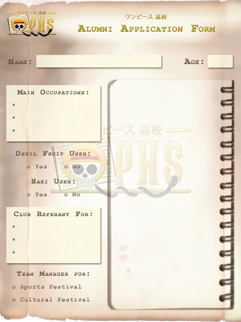 OPHS Chara Profile Template ALUMNI by TenshiNoFuu on DeviantArt – Profile Templates